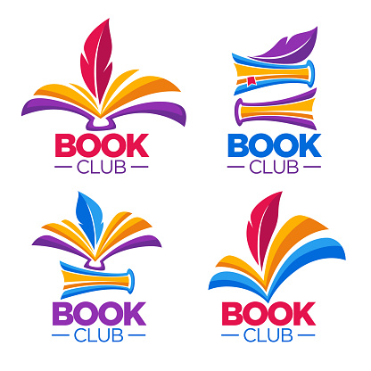 book club, library or shop, vector cartoon