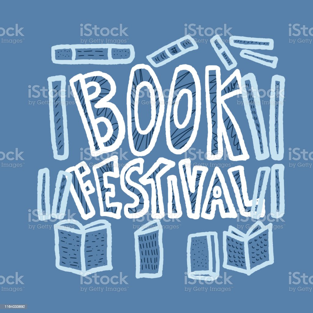 Book festival concept. Book set in doodle style. Symbols of reading....