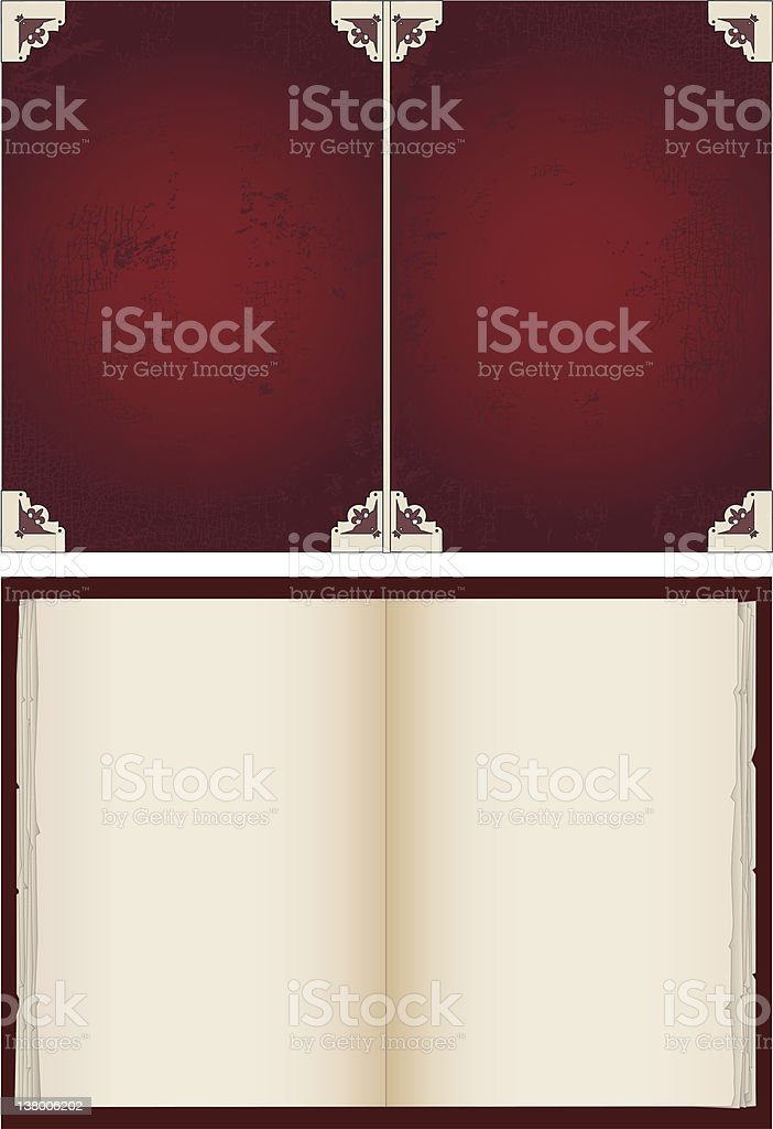 Book Cover and blank pages royalty-free book cover and blank pages stock vector art & more images of blank
