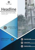 A4 book cover design. Academic journal, magazine. Vector Illustr
