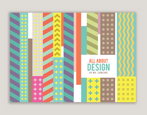 Book cover design with pattern