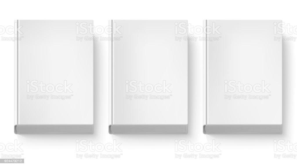 Couverture Du Livre Isolee Sur Fond Blanc Trois Livres En