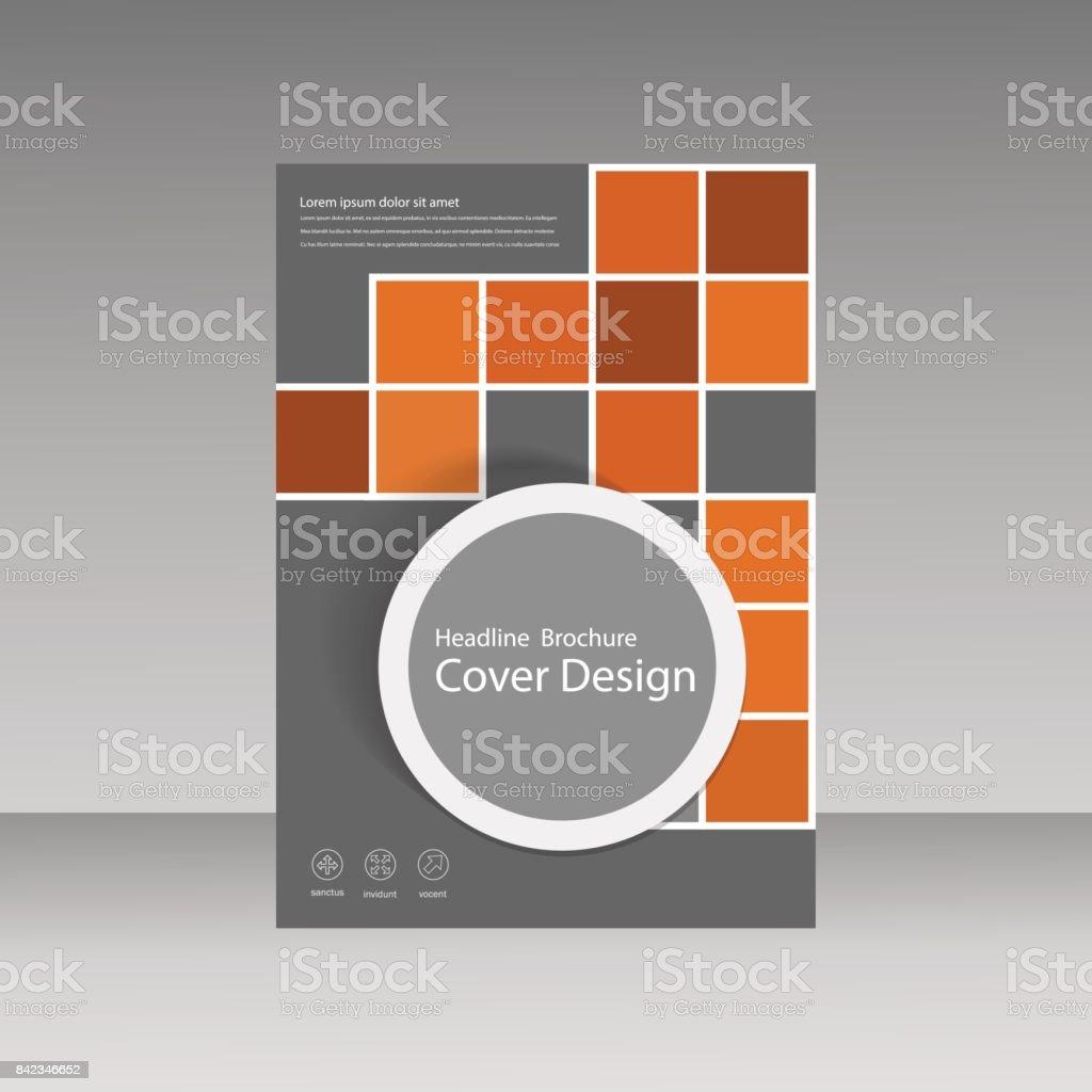 ブックカバーのレイアウト デザイン正方形で抽象的なフライヤーは