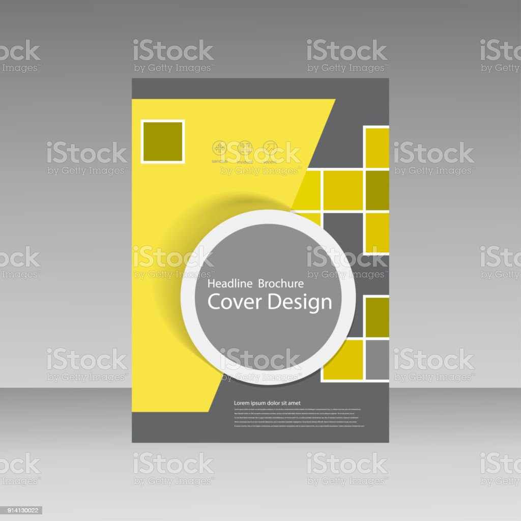 book cover layout design abstract flyer templates with square stock
