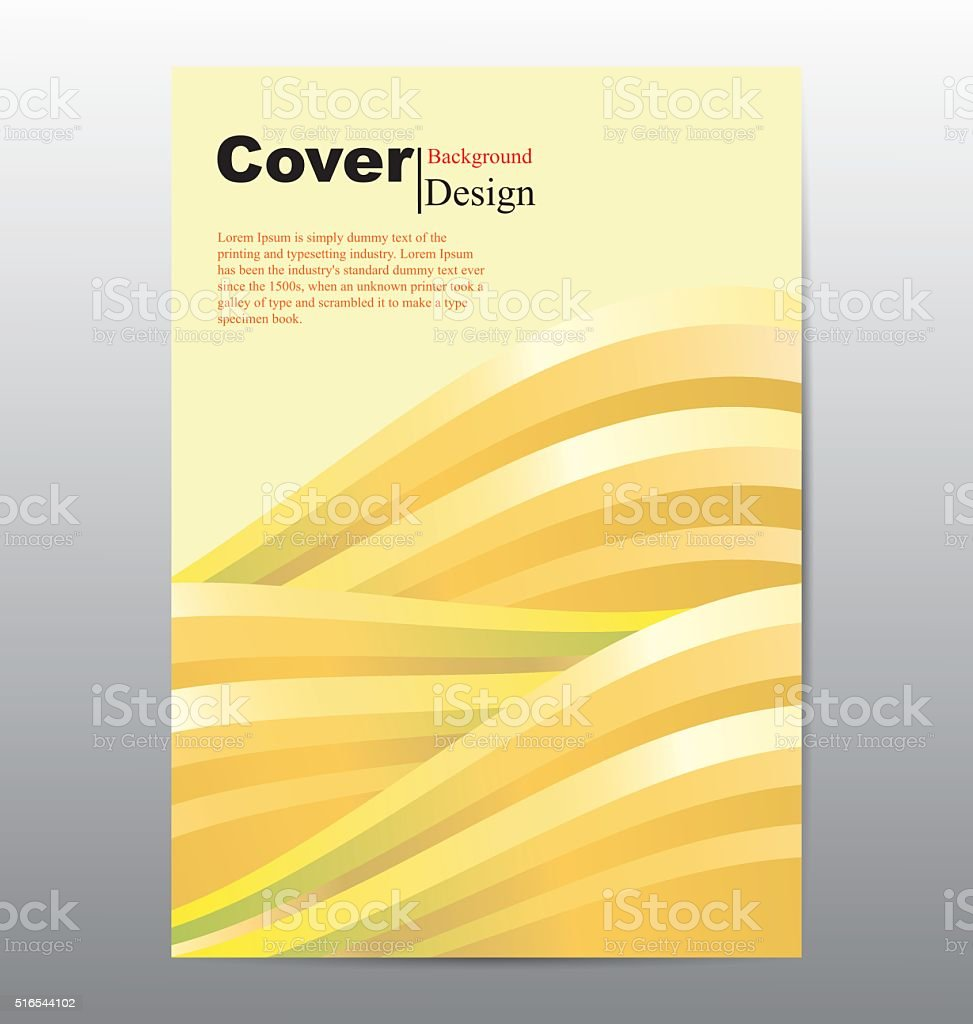 Book Cover With Abstract Line Waves Background Stock Illustration Download Image Now Istock
