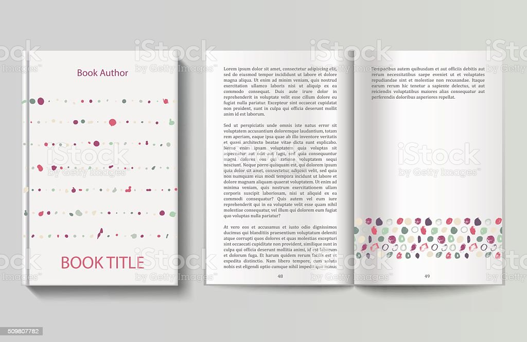Book design template vector art illustration
