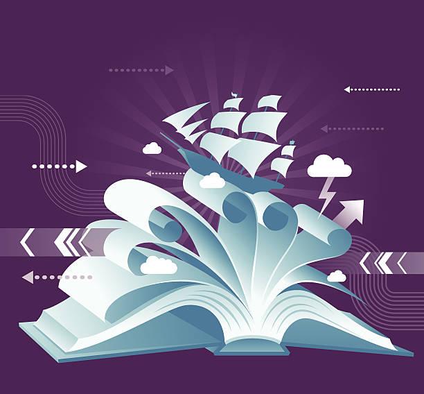 buch entdecken sie - reiseliteratur stock-grafiken, -clipart, -cartoons und -symbole