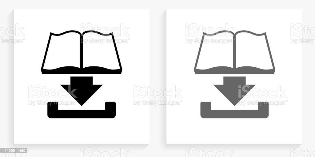 Telecharger Le Livre Noir Et Blanc Icone Carre Vecteurs