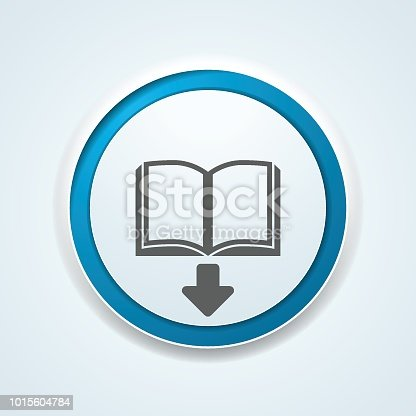 Book Download button illustration