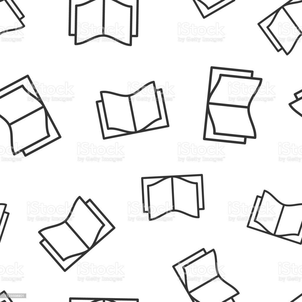 Livre Leducation Icone Sans Soudure De Fond Illustration De