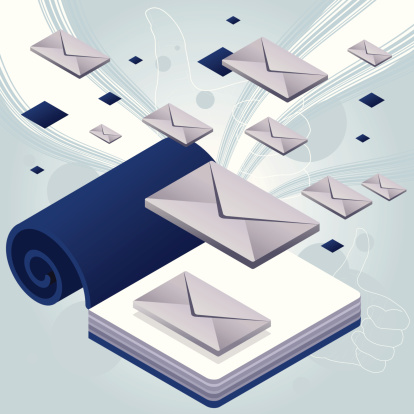 Book e-mail storm