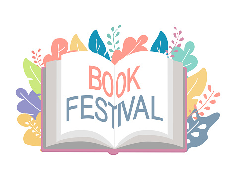 Book festival concept, vector illustration, poster and banner