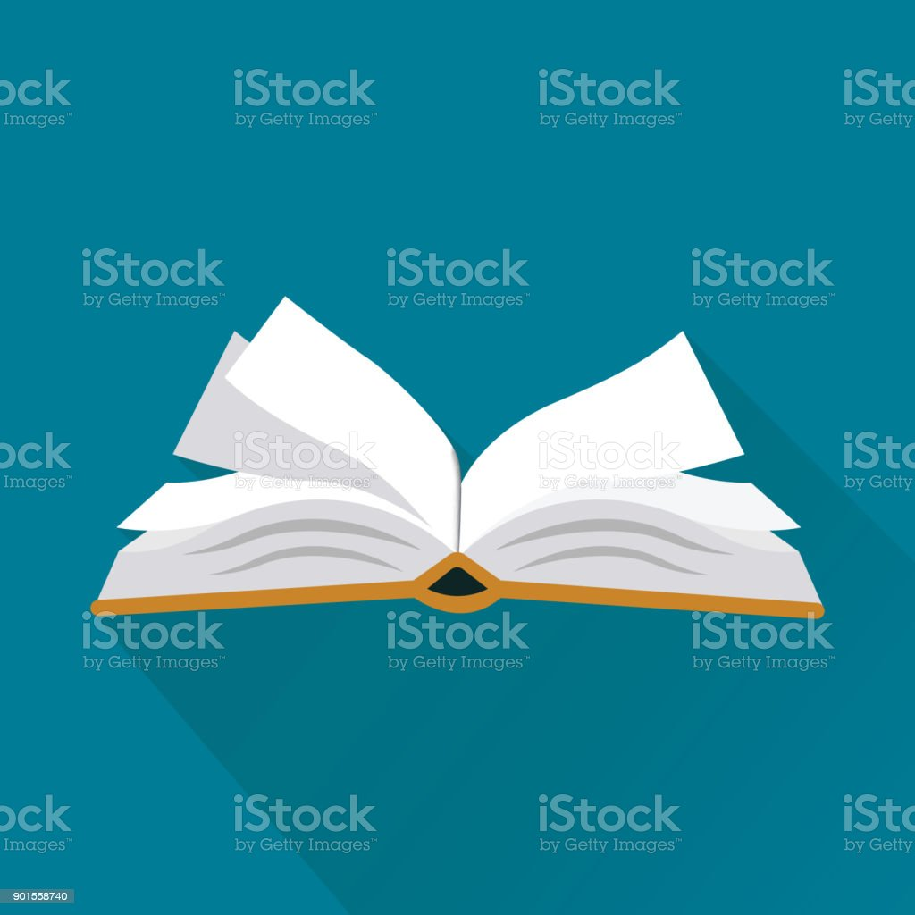 Book Flat Icon vector art illustration