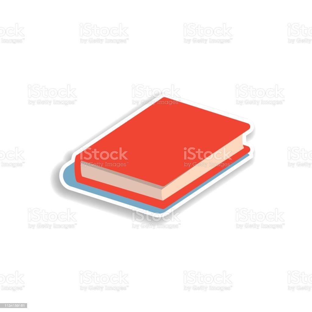 Icone De Livre Autocollant Plat Elements De Livre Dans Les