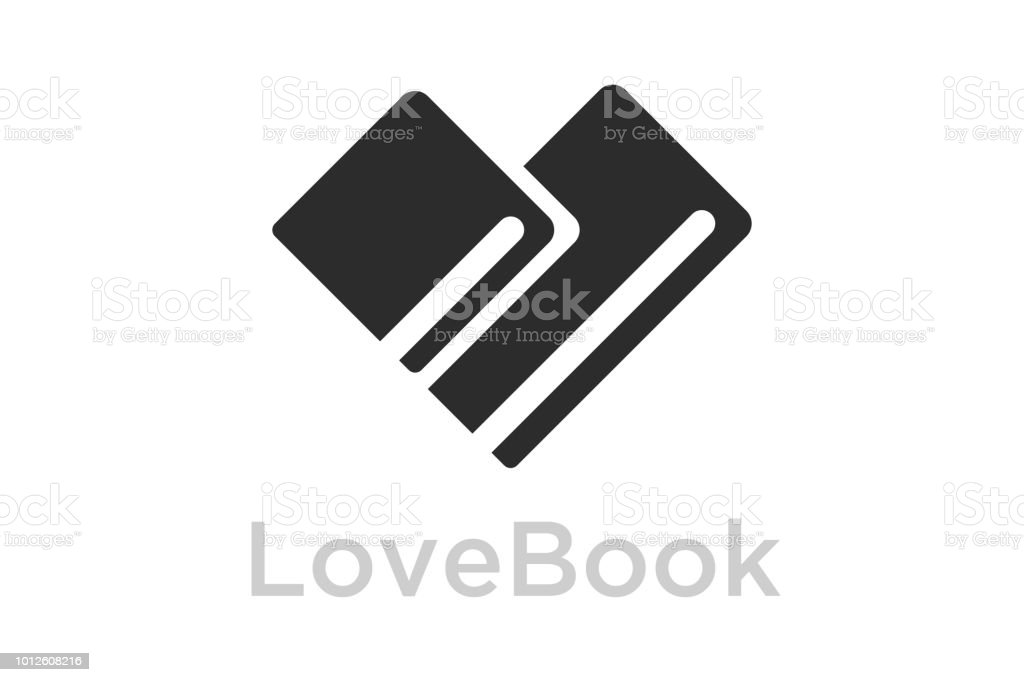 Book Heart Symbol Icon Design Template Elements Vector Illustration