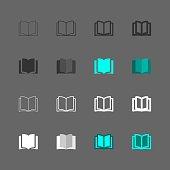 Book Icon Multi Series Vector EPS File.