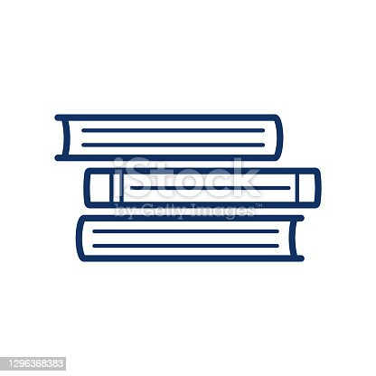 istock Book icon on white background, vector illustration 1296368383