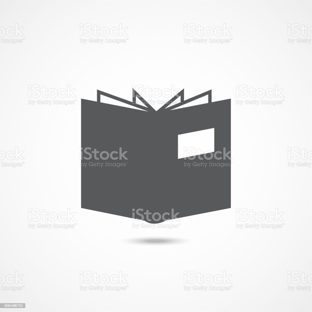 Icone Representant Un Livre Blanc Vecteurs Libres De Droits