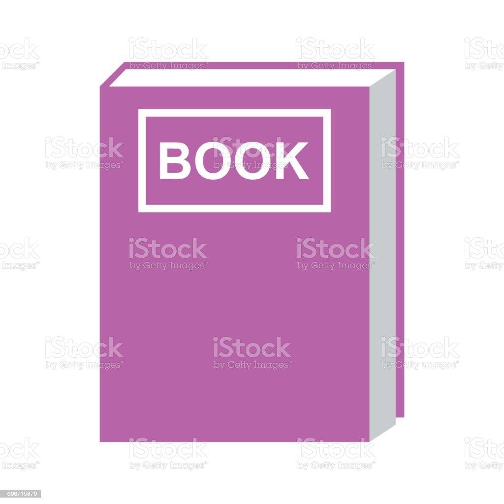 Vector Aislado De Color Púrpura De Icono De Libro - Arte vectorial ...