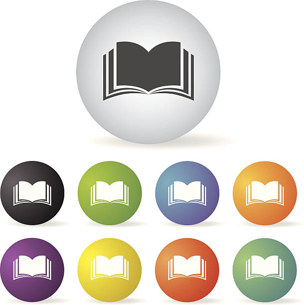 book icon set vector book  button icon set fully unbuttoned stock illustrations