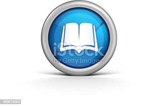 Book Icon illustration. Eps 10 file. All elements are separate. No mesh layer. Very hight detailed. Easily modifying.