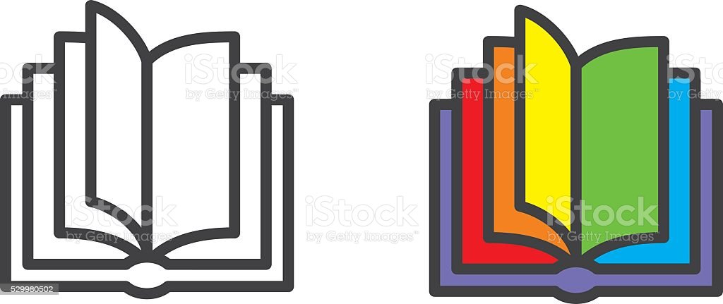 Book icon vector art illustration