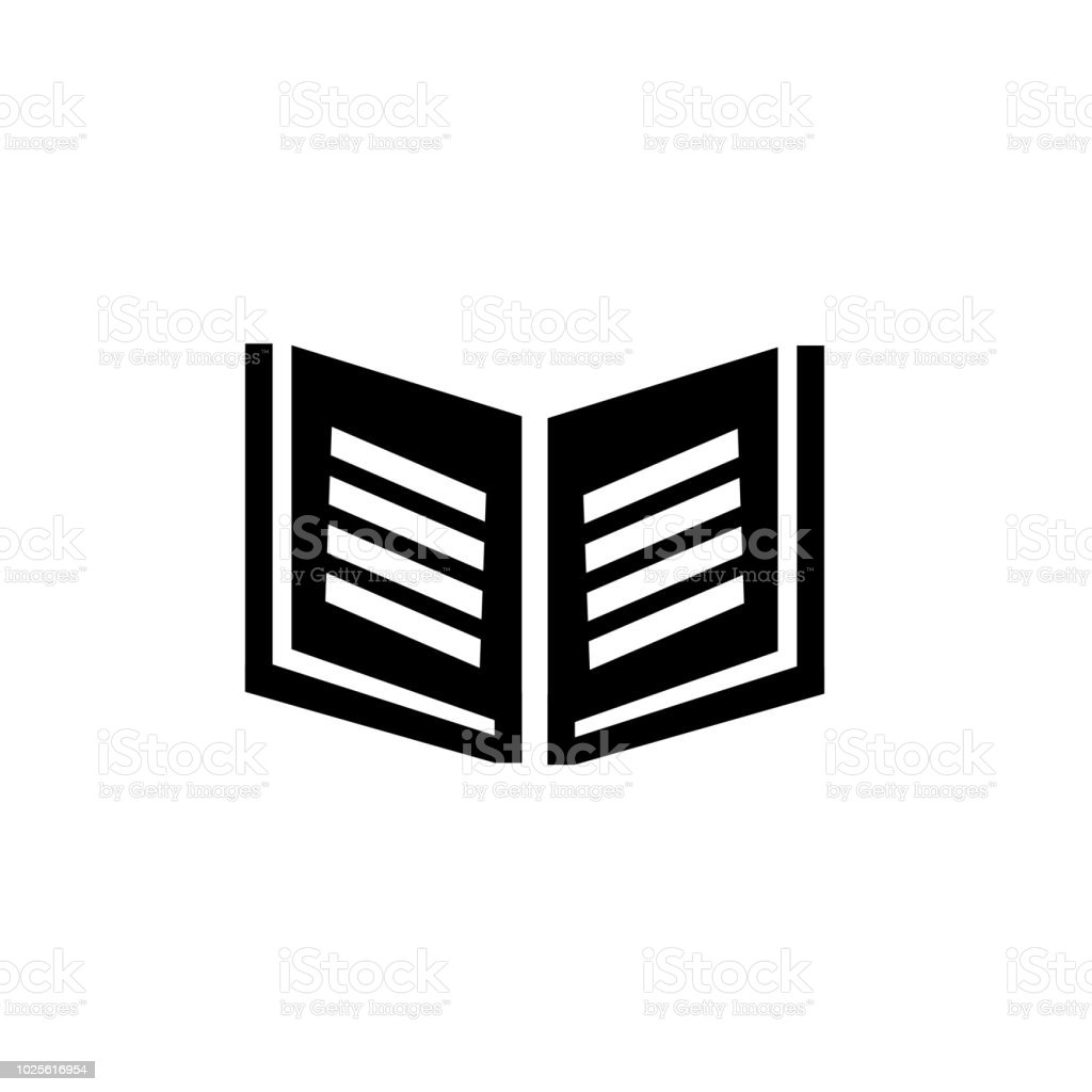 Livre Icone Vector Signe Et Le Symbole Isole Sur Fond Blanc