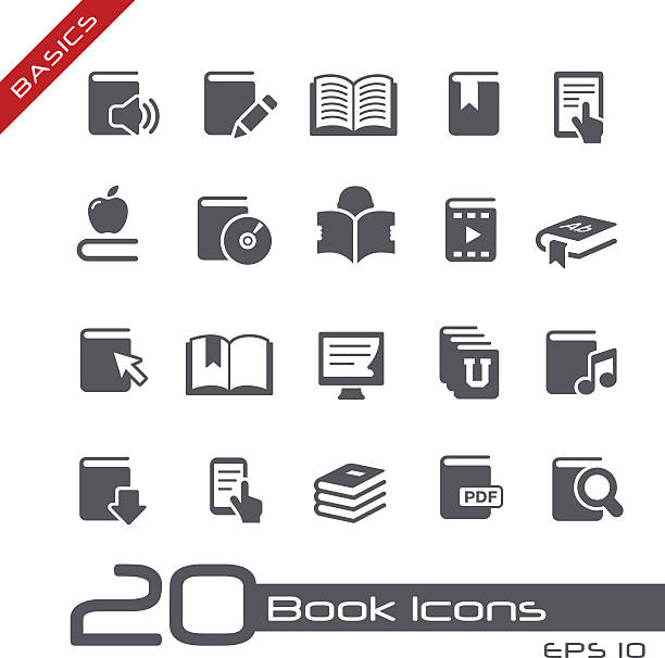 Book Icons - Basics Vector icons for your website or presentation. magazine publication stock illustrations