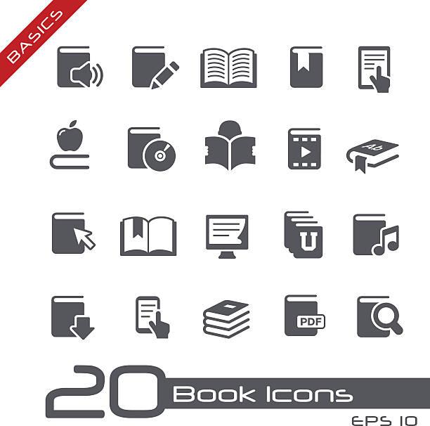 książki ikony-podstawy - publikacja stock illustrations