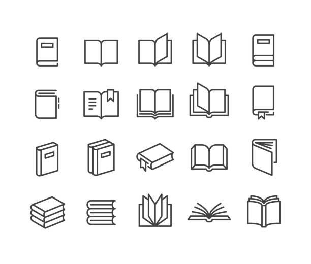 Book Icons - Classic Line Series Book, Reading, book icons stock illustrations