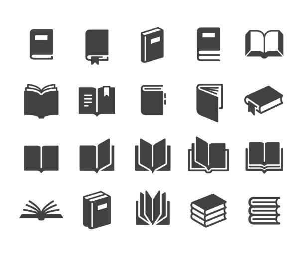 Book Icons - Classic Series Book, book icons stock illustrations