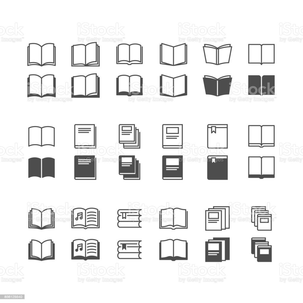 Book icons, included normal and enable state. vector art illustration