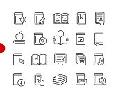 Book Icons // Red Point Series