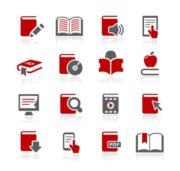 ilustrações, clipart, desenhos animados e ícones de para reservar ícones / / série redico - ebook