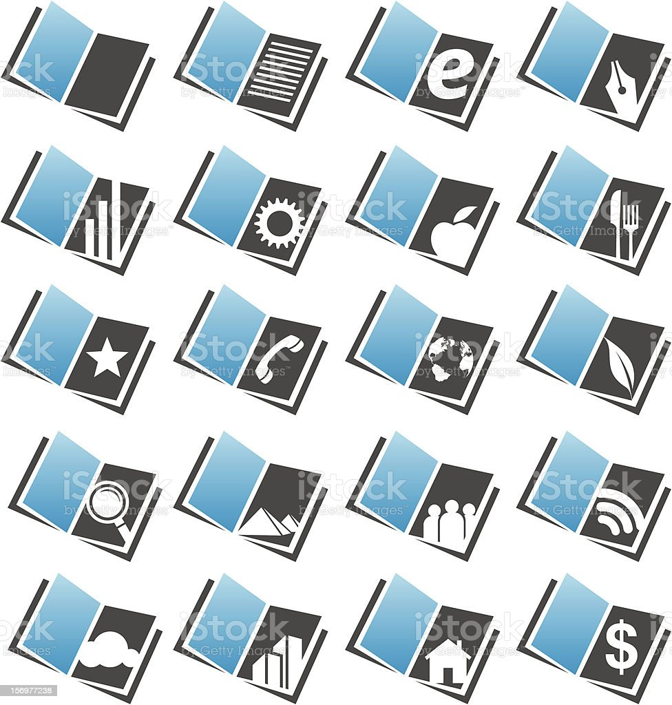 Book icons set royalty-free stock vector art