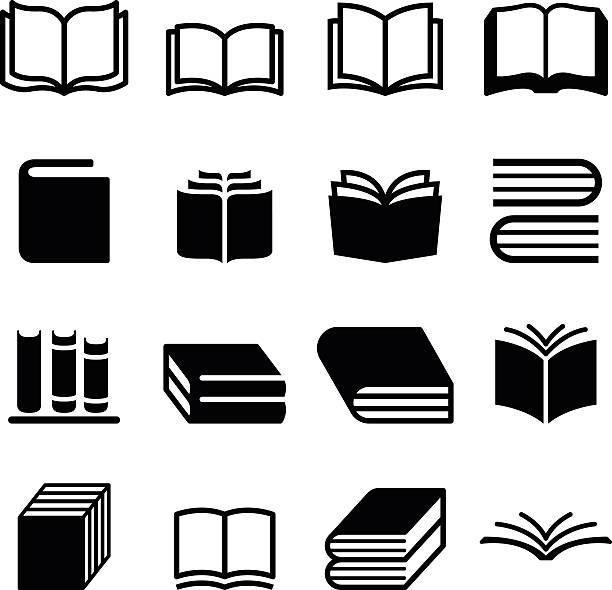 Book icons set Book icons set book symbols stock illustrations