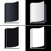 Book Icons. Set Vector Isolated Pictogram of Different Variants