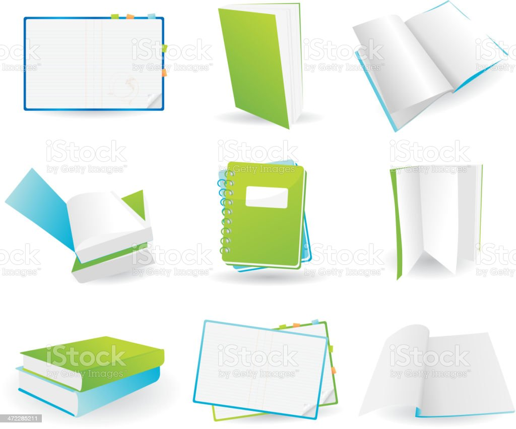 Book icons vector art illustration