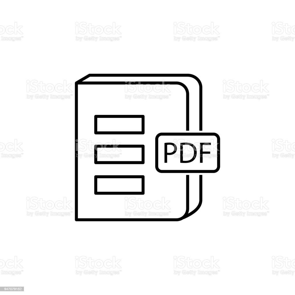 Book In Pdf Format Icon Element Of Knowledge For Mobile Concept And Web Apps Thin Line Icon For Website Design And Development App Development Premium Icon Stock Illustration Download Image Now