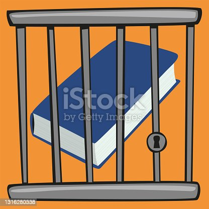 istock A book is imprisoned to symbolize censored culture. 1316280338