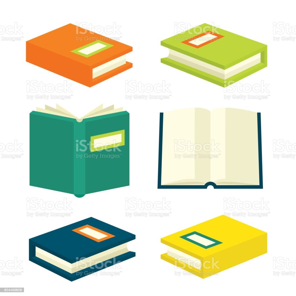 Book Isometric Signs And Symbols Stock Vector Art More Images Of