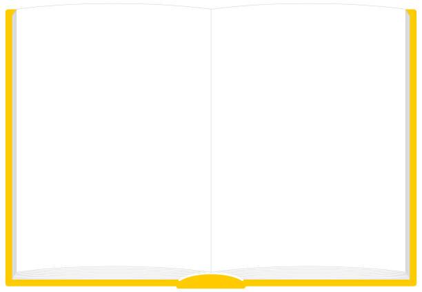 Book Kai-no-Frame Illustration Vector 本 見開き フレーム イラスト ベクター book borders stock illustrations