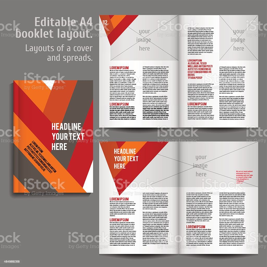 a4 book layout design template stock vector art more images of