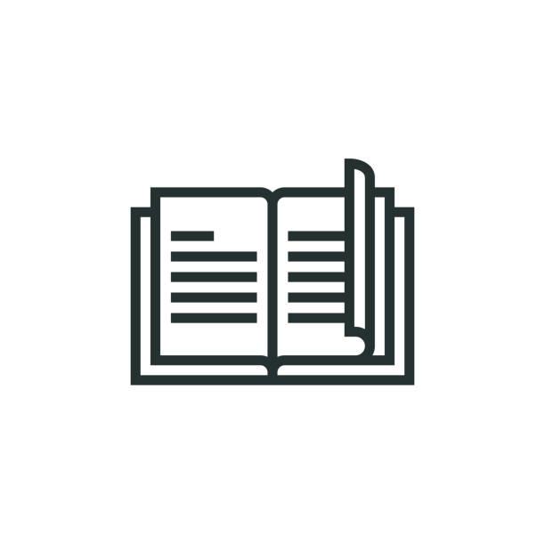 book line icon - katalog stock illustrations