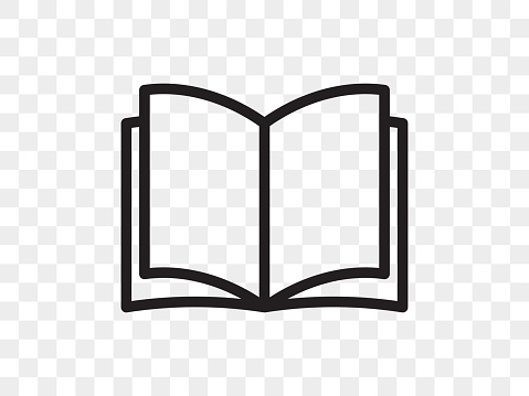 Book line vector icon. Open book reader linear web app symbol