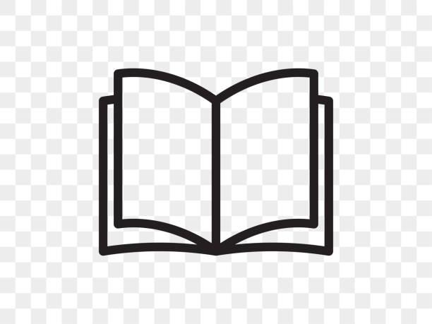 Book line vector icon. Open book reader linear web app symbol Book line vector icon. Open book reader linear web app symbol book icons stock illustrations