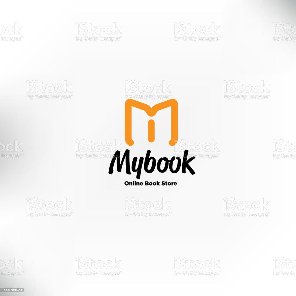 Book Logo Templatem Letter For Mobile Book Store Book Online Logo