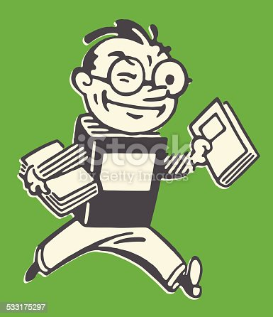 istock Book Man Carrying Books 533175297