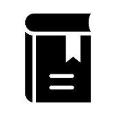 book mark Glyphs Vector Icon