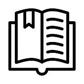 book mark Thin Line Vector Icon